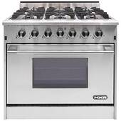 """DRGB3602 NXR 36"""" Professional Gas Range with Six Burners and Convection Oven - Natural Gas - Stainless Steel"""