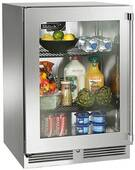 "HP24RO33L Perlick 24"" Signature Series Outdoor Refrigerator with Stainless Glass Door - Left Hinge"