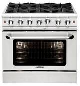 """MCOR366N Capital 36"""" Culinarian Series Natural Gas Manual Clean Range with 6 Open Burners - Stainless Steel"""