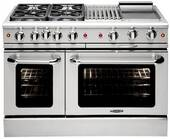"""MCOR488N Capital 48"""" Culinarian Series Natural Gas Manual Clean Range with 8 Open Burners - Stainless Steel"""