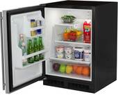 "ML24RAS2LB Marvel 24"" Under Counter All Refrigerator with Maxstore Utility Bin - Left Hinge - Black"