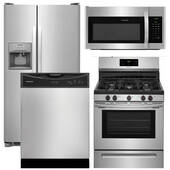 Package Frigidaire 14 - Frigidaire Appliance Package - 4 Piece Appliance Package with Gas Range - Stainless Steel