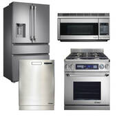 "Package Dacor D1 - Dacor Appliance Kitchen Package with Dual Fuel 30"" Range - Stainless Steel"