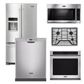 Package Maytag 33 - Maytag Appliance Built-In Package - 5 Piece Appliance Package including Gas Cooktop - Stainless Steel
