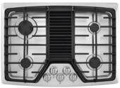 """RC30DG60PS Frigidaire 30"""" 4 Burner Gas Cooktop with Built-In 500 CFM Downdraft Exhaust - Stainless Steel"""