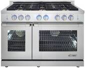 """RNRP48GSNG Dacor 48"""" Self Cleaning Natural Gas Range with DualStacked Burners - Stainless Steel"""