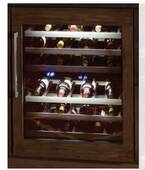 "T24UW800RP Thermador 24"" Thermador Right Swing Undercounter Wine Reserve with LED Lighting - Custom Panel"