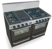 "TTN531-7W FiveStar Five Star 48"" Pro Style Gas Convection Range with Sealed Burners - Natural Gas - Black"