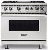 "VDR5364GSS Viking 36"" Professional 5 Series 4 Burner Dual Fuel Range with Varisimmer Pro Sealed Burner System and SureSpark Ignition - Stainless Steel"