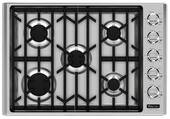 """VGSU5305BSS Viking Professional Series 30"""" Natural Gas Cooktop with 5 Burners - Stainless Steel"""