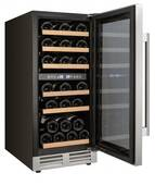 "WCF282E3SD Avanti 15"" 28 Bottle Designer Series Dual Zone Wine Chiller with Seamless Door and Soft Touch Electronic Display - Green"