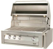 "VBQ36G Vintage 36"" Gold Built-in Grill - Natural Gas - Stainless Steel"
