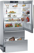 "CS2061 Liebherr 36"" Freestanding Cabinet Depth Bottom Mount Refrigerator - Left Hinge - Stainless Steel"