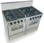 "TPN531-7BW FiveStar Five Star 48"" Pro Style Gas Convection Range with Sealed Burners - Liquid Propane - Stainless Steel"
