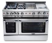 """GSCR488N Capital 48"""" Precision Pro Style Gas Convection Range 8 Burners- Natural Gas - Stainless Steel"""