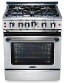 """GSCR305N Capital 30"""" Precision Pro Style Gas Convection Range 4 Burners and Power Wok burner- Natural Gas - Stainless Steel"""