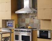 """DHW482 Dacor Discovery 48"""" Chimney Wall Mount  Hood with 1200 CFM Blower - Stainless Steel"""