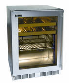 "HA24BB33L Perlick 24"" ADA Compliant Built-in Beverage Center with Stainless Steel Glass Door - Left Hinge"