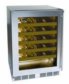 "HA24WB33R Perlick 24"" ADA Compliant Built-in Wine Reserve with Stainless Steel Glass Door - Right Hinge"