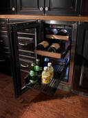 """HP15BO34L Perlick 15"""" Signature Series Stainless Outdoor Beverage Center with Integrated Wood Overlay Glass Door - Left Hinge"""